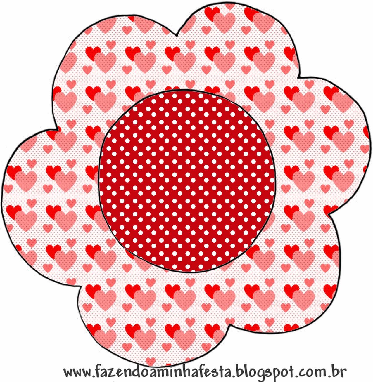 Corazones en Rojo y Rosa Invitaciones para Imprimir