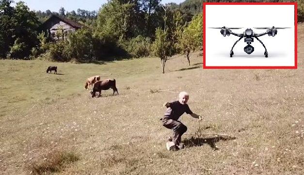Τούρκος βοσκός δεν είχε ξαναδεί ποτέ drone και έτρεξε να σωθεί!!! (βίντεο)
