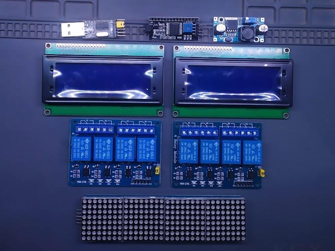 Nuevo juguete: Algunos módulos como matriz de LEDs y relevadores