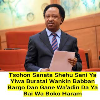 Tsohon Sanata Shehu Sani Ya Yiwa Buratai Wankin Babban Bargo Dan Gane Wa'adin Da Ya Bai Wa Boko Haram