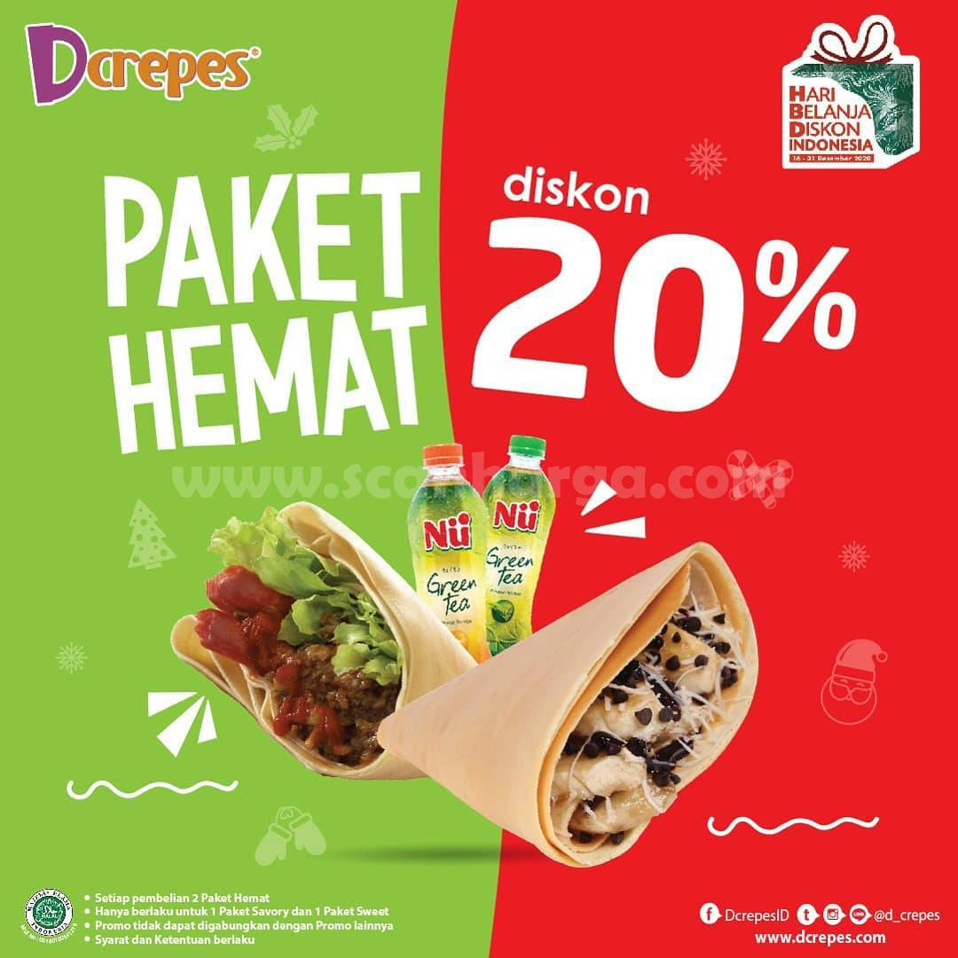 Promo DCREPES Diskon 20% untuk Pembelian Paket Hemat Savory & Sweet