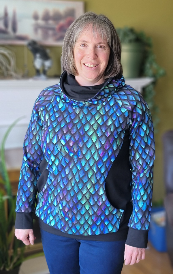 Dragon scale Skylar hoodie | DevotedQuilter.com
