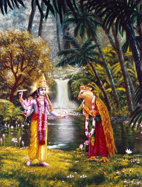 Krishna and Garuda