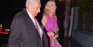 Δημήτρης Κοντομηνάς: Σπάνια εμφάνιση με την σύντροφό του στο γαμήλιο πάρτυ του Αντώνη Σρόιτερ!