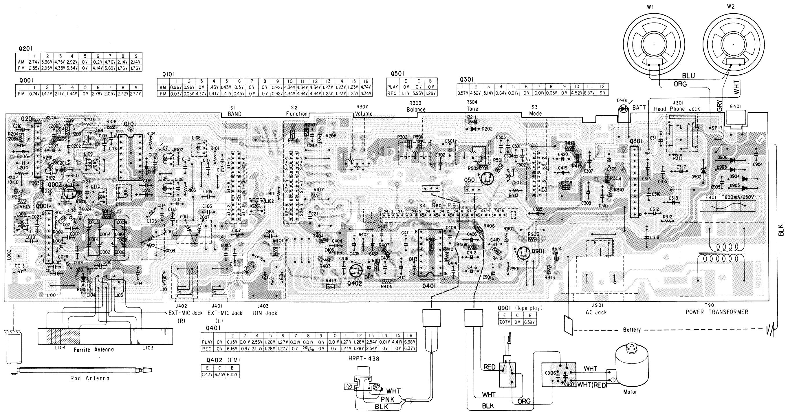Master Electronics Repair !: TOSHIBA RT 6015 STEREO RADIO