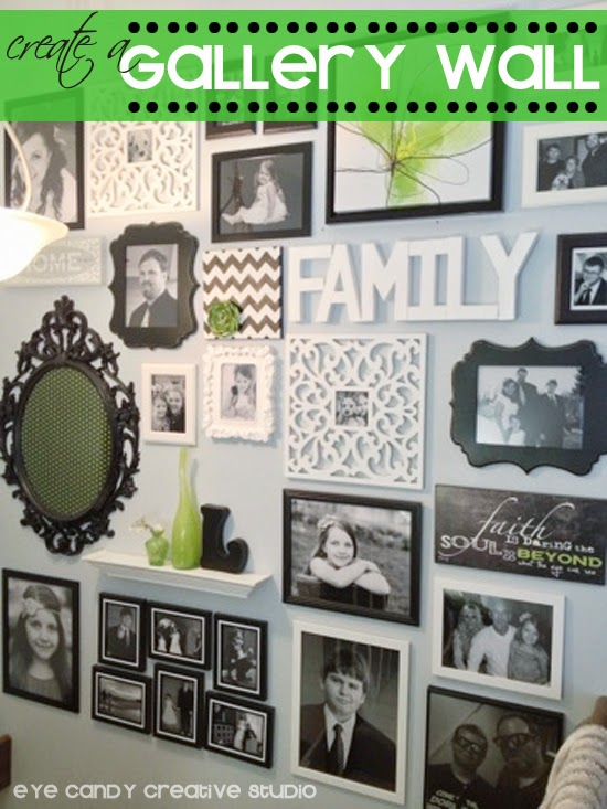 gallery wall, home DIY, hanging pictures, home decorating, black and white decor