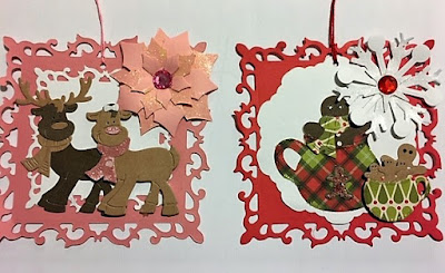 Die-Cut Square Christmas Tags