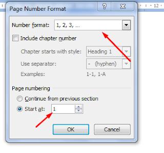 Page numbering mulai halaman