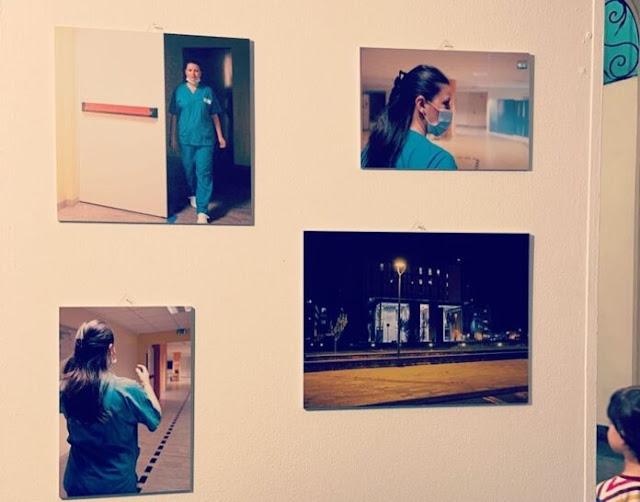 """Infermiera albanese Elvana Dervishi parte della mostra """"Women for Women"""" a Parma"""