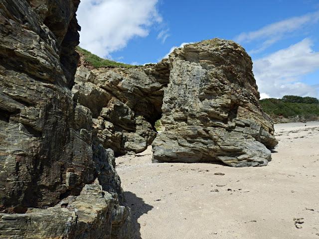 Cliffs at Spit Beach, Par, Cornwall