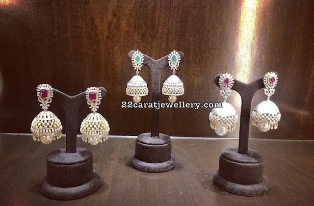 Dazzling Diamond Large Jhumkas