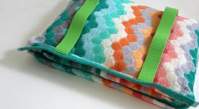 A very soft toilet bag