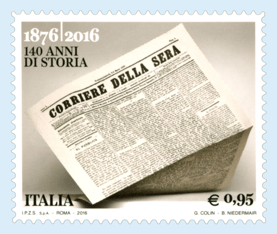Corriere della Sera, 140th anniversary