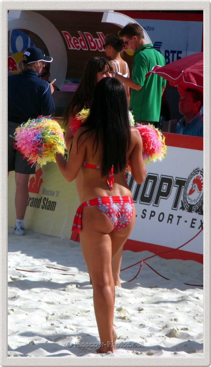 Hot Beach Volleyball Cheerleader