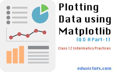 Class 12 Informatics Practices - Plotting Data using Matplotlib ( Questions and Answers) Part-1 (#class12InformaticsPractices)(#Matplotlib)(#PythonVisualisation)(#eduvictors)