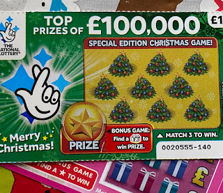 £1 National Lottery Christmas Scratchcard From 2019