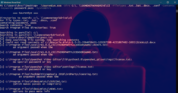 SauronEye : Search Tool To Find Specific Files Containing Specific Words