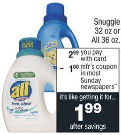 Snuggle Dryer Sheets CVS Deal 2/7-2/13