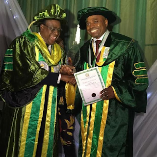 Actor Kenneth Okonkwo graduates with Honours at The Institute of Chartered Economists of Nigeria