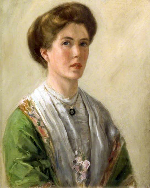 Gertrude Mary Powys, Self Portrait, Portraits of Painters, Fine arts, Gertrude Mary, Portraits of painters blog, Paintings of Gertrude Mary Powys, Painter  Gertrude Mary Powys   .