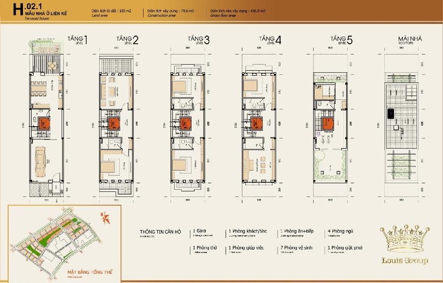 thiết kế nhà vườn louis city đại mỗ