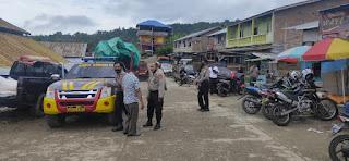 Putus Penyebaran Covid-19 Polsek Alla Polres Enrekang Gelar Patroli Penegakan Disiplin Protokol Kesehatan
