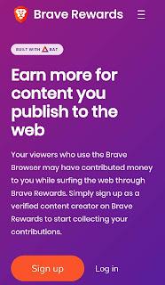 Sign Up on Brave Browser