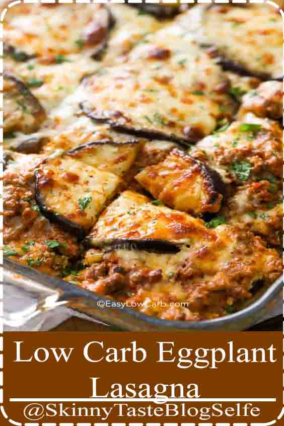 4.6 | ★★★★★ This easy eggplant lasagna will satisfy the heartiest of eaters while accommodating the more low-carb crowd. #easylowcarb #eggplantlasagna #easyrecipe #lowcarb #healthy #eggplant #maincourse