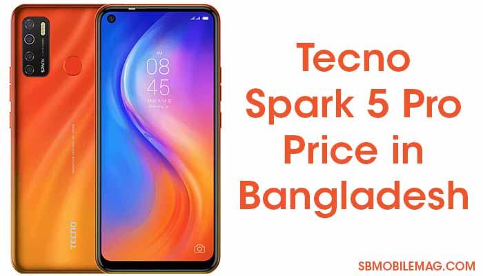 Tecno Spark 5 Pro Price in Bangladesh & Specs