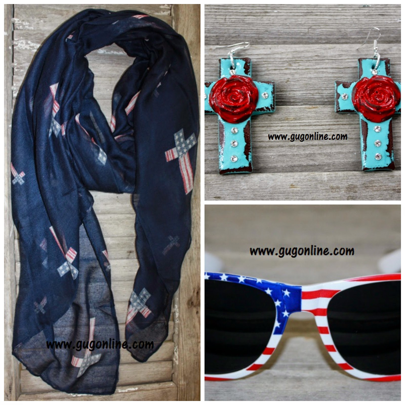 bb5e5957cc128f Left: Navy Scarf with American Flag Crosses
