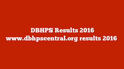 DBHPS Results August 2016