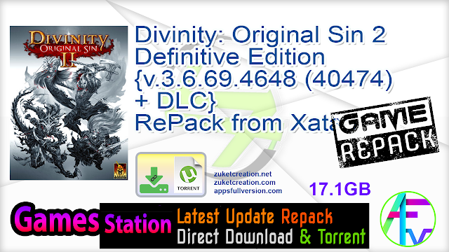 Divinity Original Sin 2 – Definitive Edition {v.3.6.69.4648 (40474) + DLC} RePack from Xatab