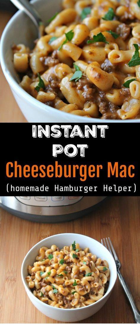 Instant Pot Cheeseburger Mac / Copy Cat Hamburger Helper