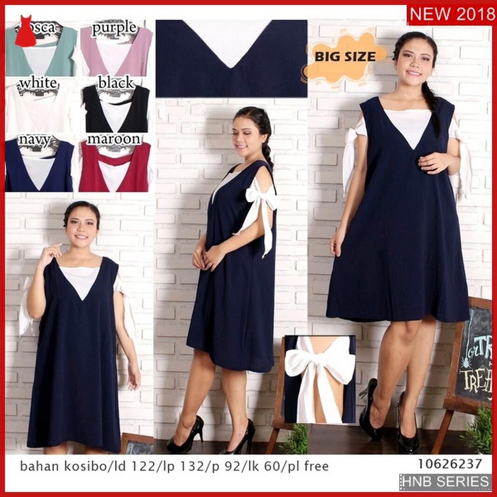 Hnb075 Model Clarin Sabrina Dress Baju Ukuran Besar Bmg Shop