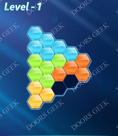 Block! Hexa Puzzle [Intermediate] Level 1 Solution, Cheats, Walkthrough for android, iphone, ipad, ipod