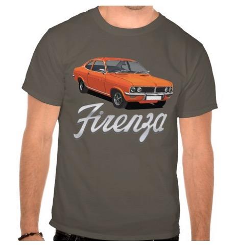 vauxhall, firenza, 70s, tshirt