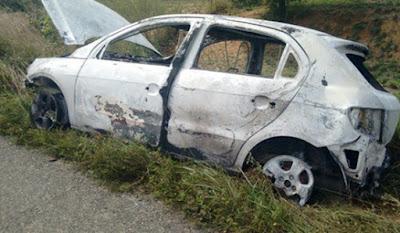 Empresário é encontrado morto e tem carro incendiado no interior da Bahia
