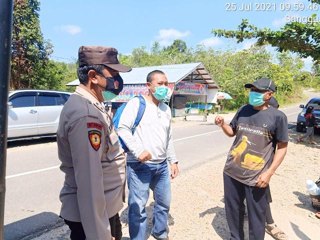 Pastikan Tetap Mematuhi Prokes, Personel Polsek Dusel Patroli Objek Wisata
