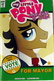IDW MLP comic #47, main cover showing Filthy Rich