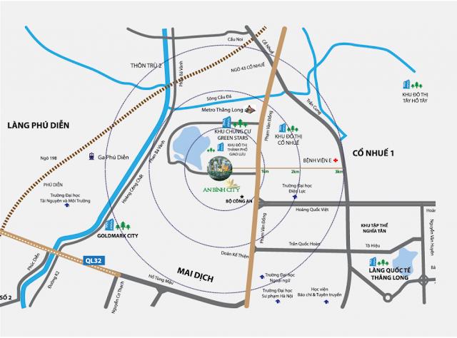 Vị trí Dự án An Bình City - 232 Phạm Văn Đồng