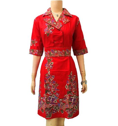 Modelbaju24 Contoh Model Baju Batik Modern Wanita