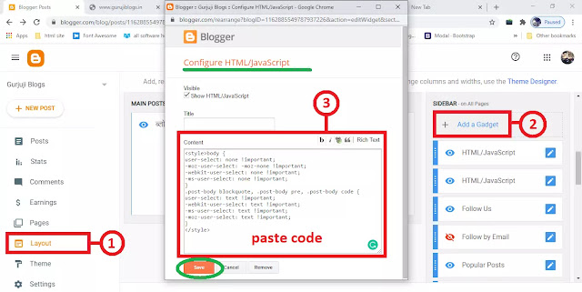 pase your code in Blogger html section