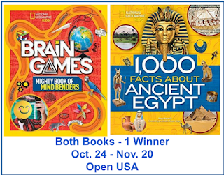 BRAIN GAMES MIGHTY BOOK OF MIND BENDERS & 1,000 FACTS ABOUT ANCIENT EGYPT