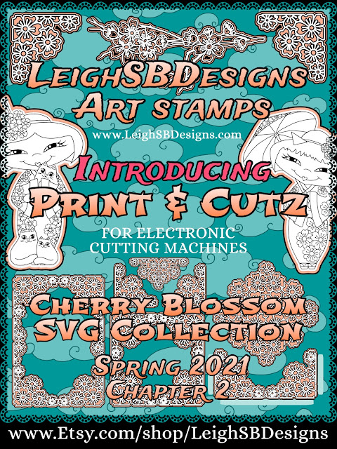 New Cherry Blossom SVG Print & Cutz and Lace Cutz sets