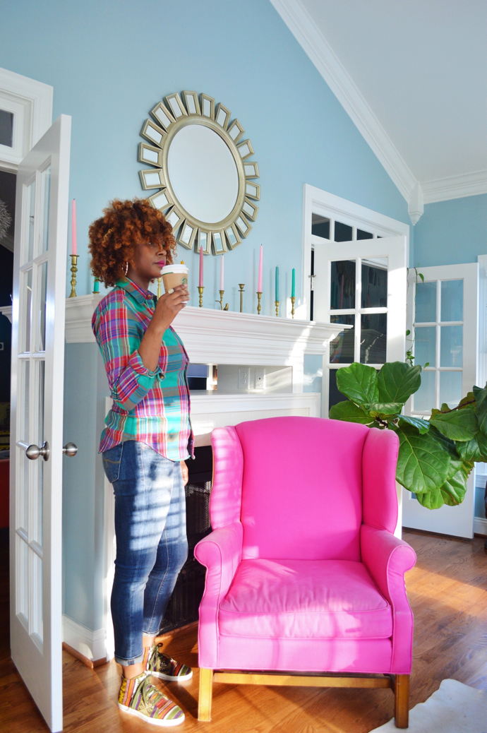 Photobombed by my fiddle leaf fig-#plants-design addict mom