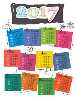 2017カレンダー無料テンプレート234