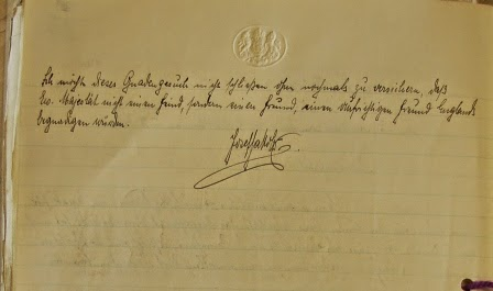 Original handwritten petition of Josef Jakobs to King George VI