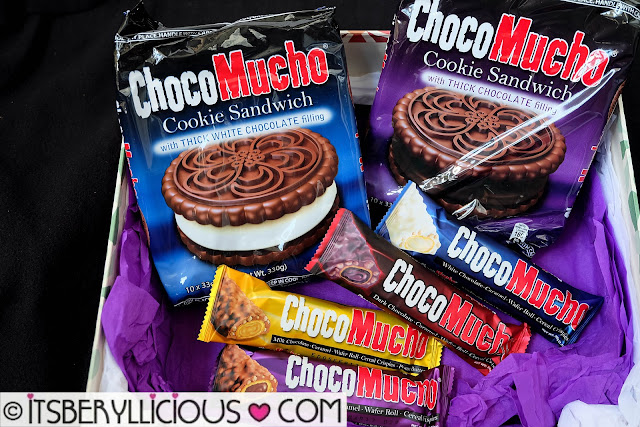 Rebisco Choco Mucho Cookie Sandwich with Chocolate and