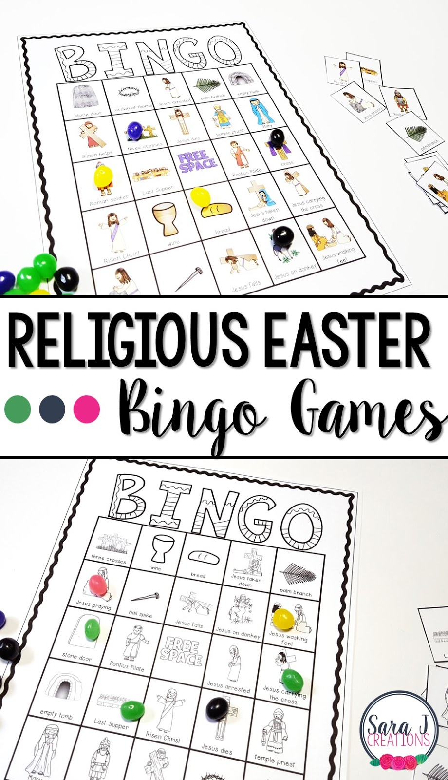 Practice the events of Holy Week with this religious Easter Bingo game. Perfect to play during Lent or Easter celebrations.