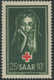 Saar 1951 Red Cross charity